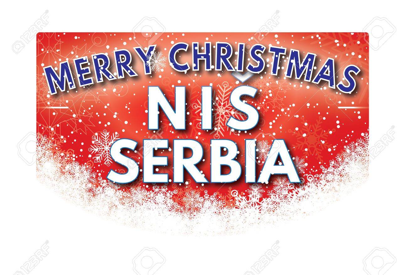 Nis serbia merry christmas greeting card stock photo picture and nis serbia merry christmas greeting card stock photo 67603334 m4hsunfo