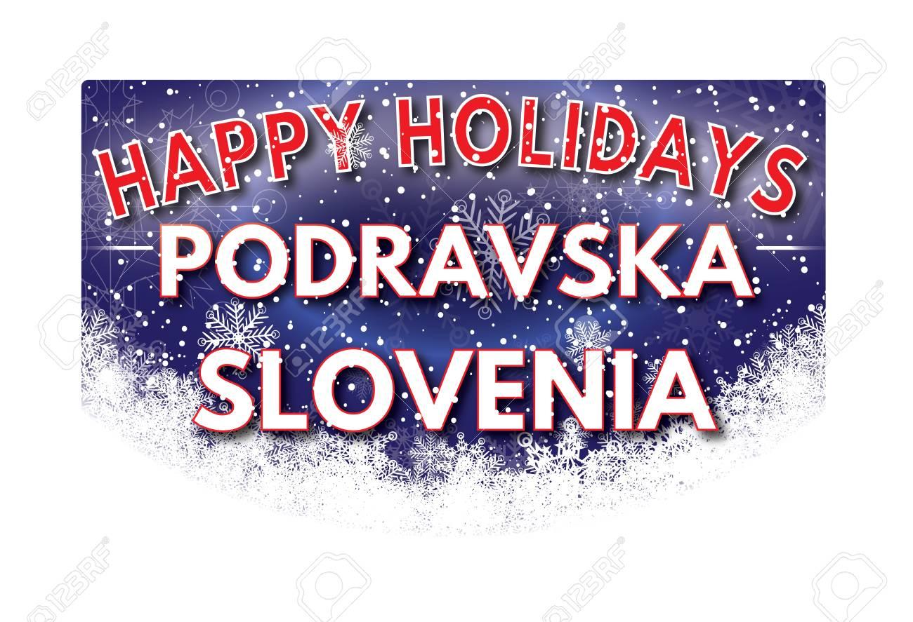 Podravska Slovenia Happy Holidays Greeting Card Stock Photo Picture