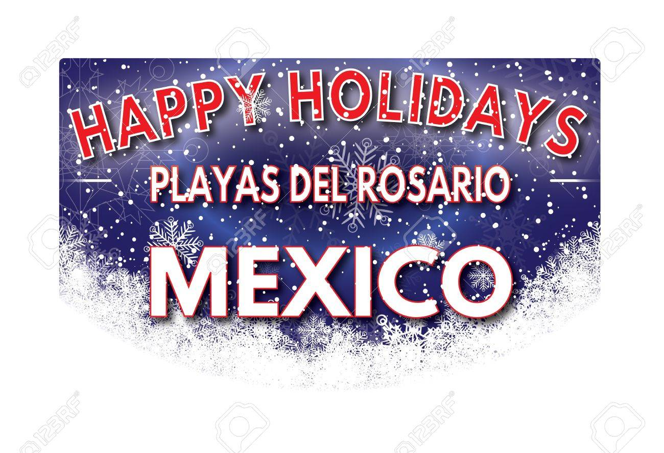 Playas del rosario mexico happy holidays greeting card stock photo playas del rosario mexico happy holidays greeting card stock photo 67277922 m4hsunfo