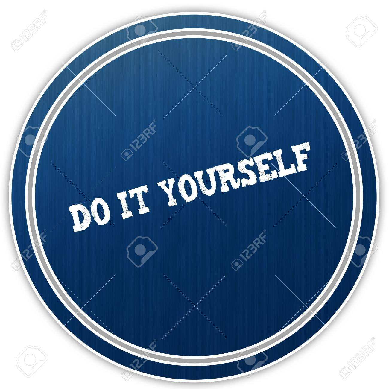 Do it yourself distressed text on blue round badge illustration do it yourself distressed text on blue round badge illustration stock illustration 94055186 solutioingenieria Image collections