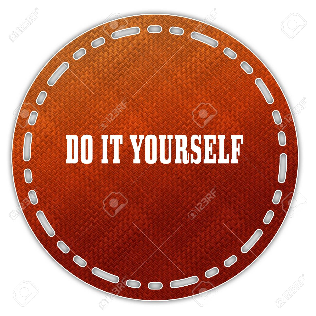 Round orange pattern badge with do it yourself message illustration illustration round orange pattern badge with do it yourself message illustration graphic design concept image solutioingenieria Image collections