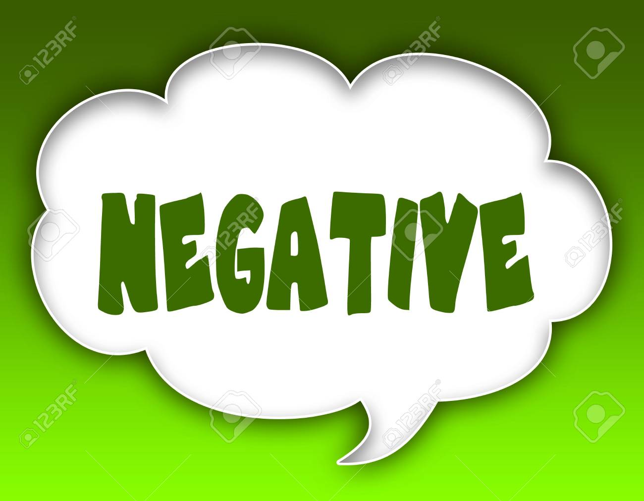 Negative message on speech cloud graphic green background illustration negative message on speech cloud graphic green background illustration thecheapjerseys Images