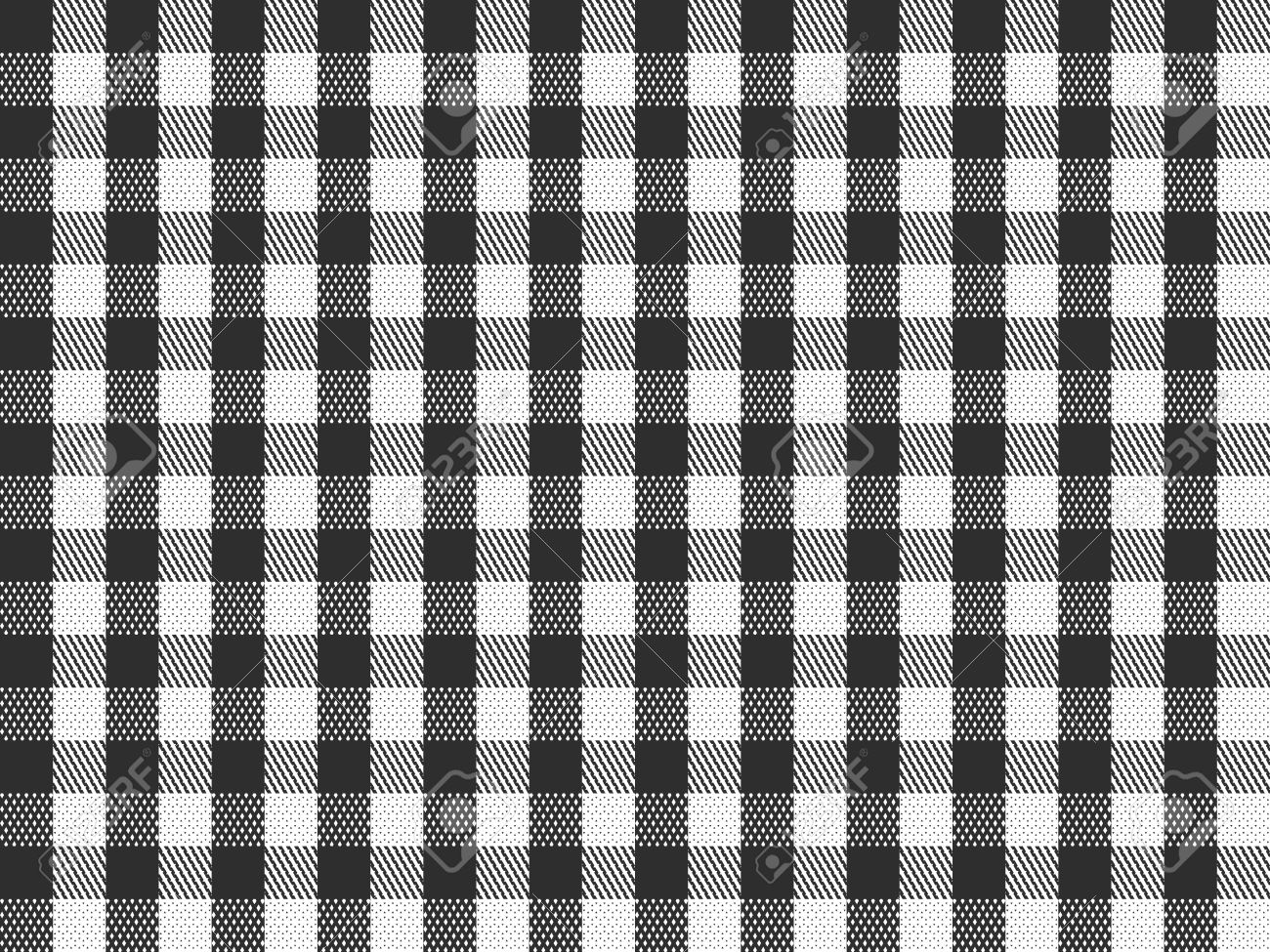 Seamless black and white checkered texture stock images image - A Traditional Plaid Seamless Repeating Checkered Pattern In Black And White Stock Photo