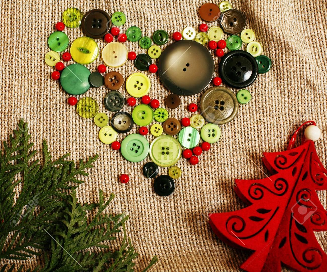 Cadeaux De Noël Faits à La Main En Désordre Avec Des Jouets Bougies