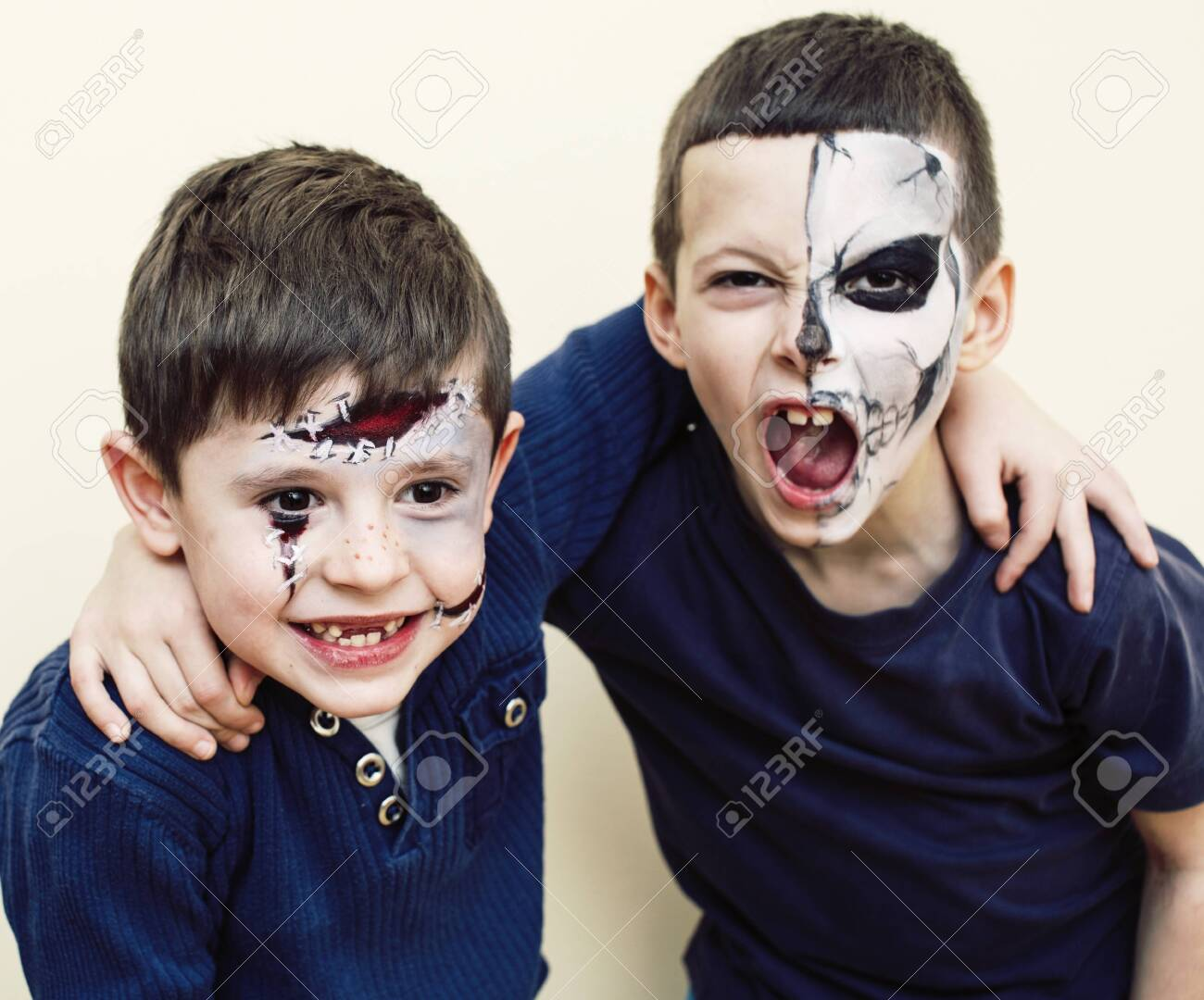 Zombie Apocalypse Kids Concept Birthday Party Celebration Facepaint Stock Photo Picture And Royalty Free Image Image 120782155
