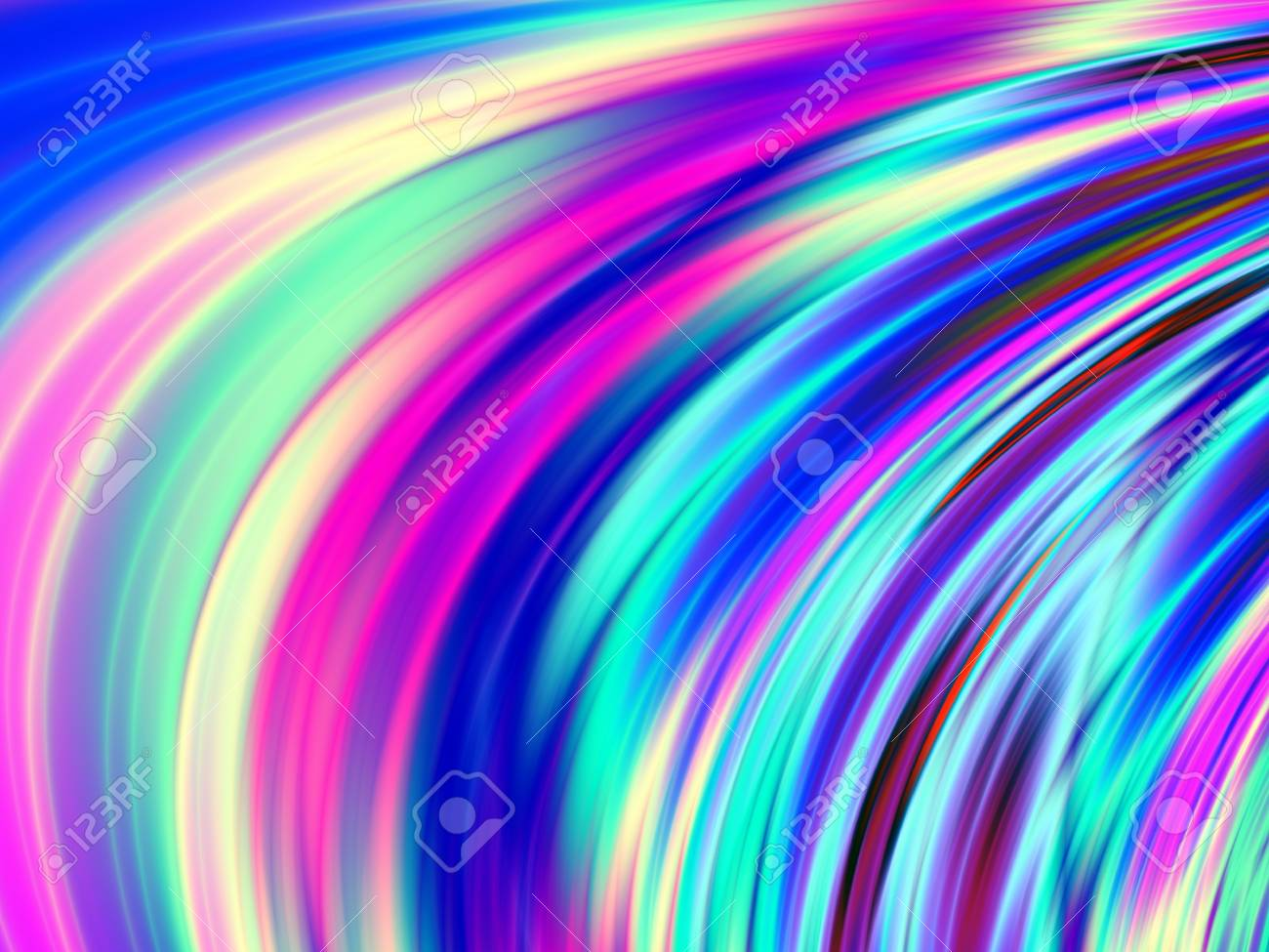 Colorful Phone Wallpaper Nice Wave Design Stock Photo Picture And