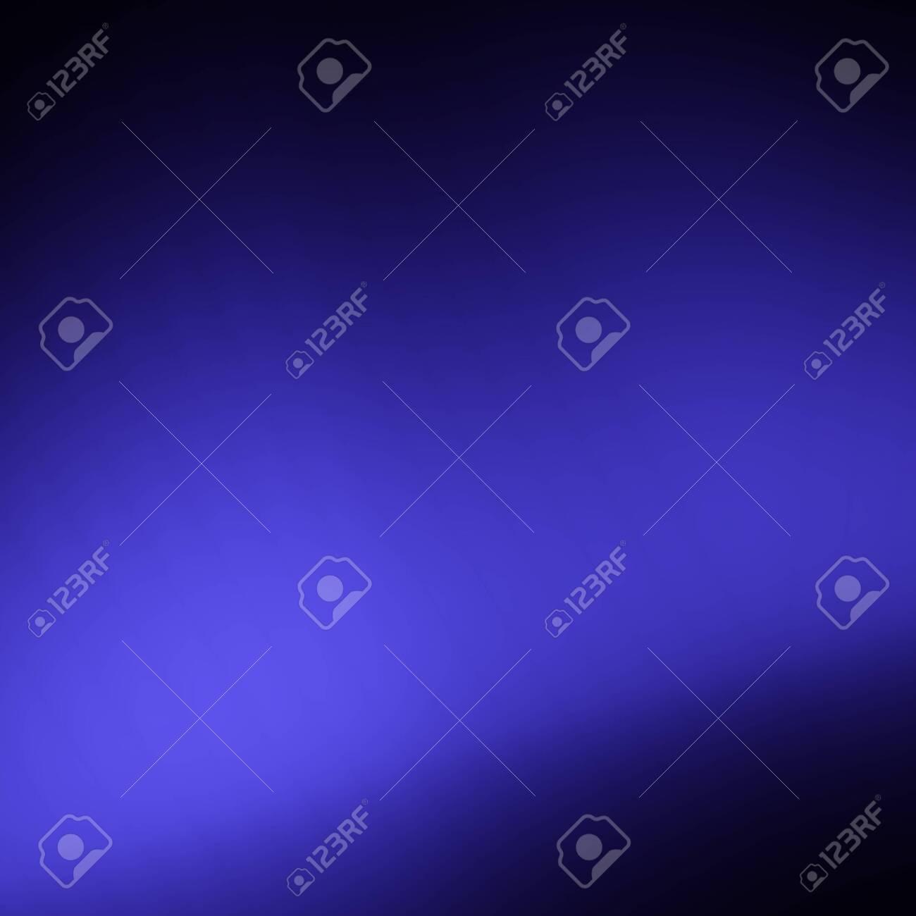 Dark blue abstract soft depth background - 136112198