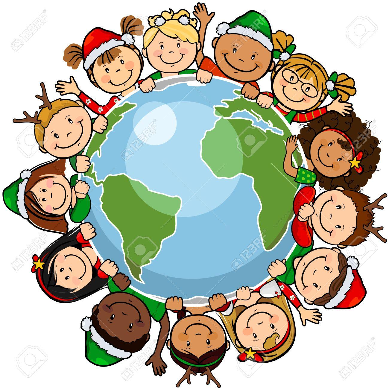 Bien-aimé Les Enfants Du Monde Dans Un Cercle Dans Le Monde Avec Des  IT83