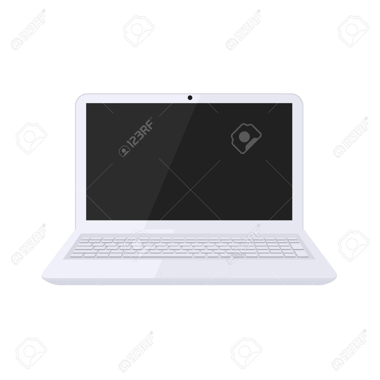 Modern laptop design in black and white color - 145119825