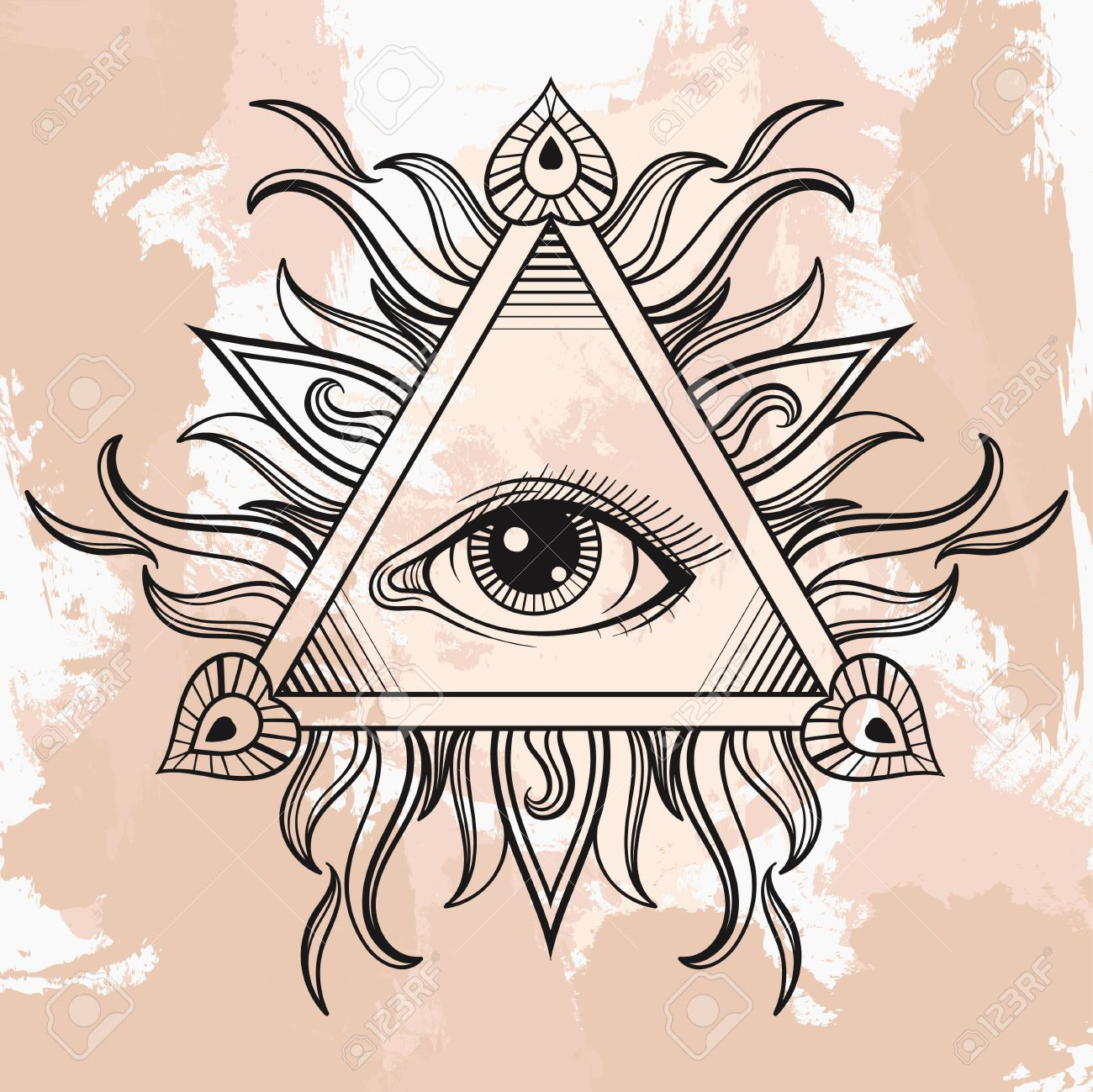 Vector all seeing eye pyramid symbol illumination tattoo vintage vector all seeing eye pyramid symbol illumination tattoo vintage hand drawn freedom spiritual buycottarizona
