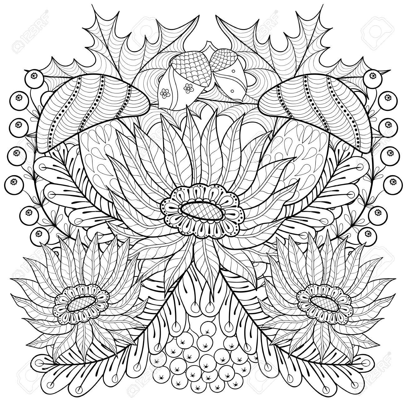 Free Printable Sunflower Coloring Pages Check more at http ... | 1300x1300