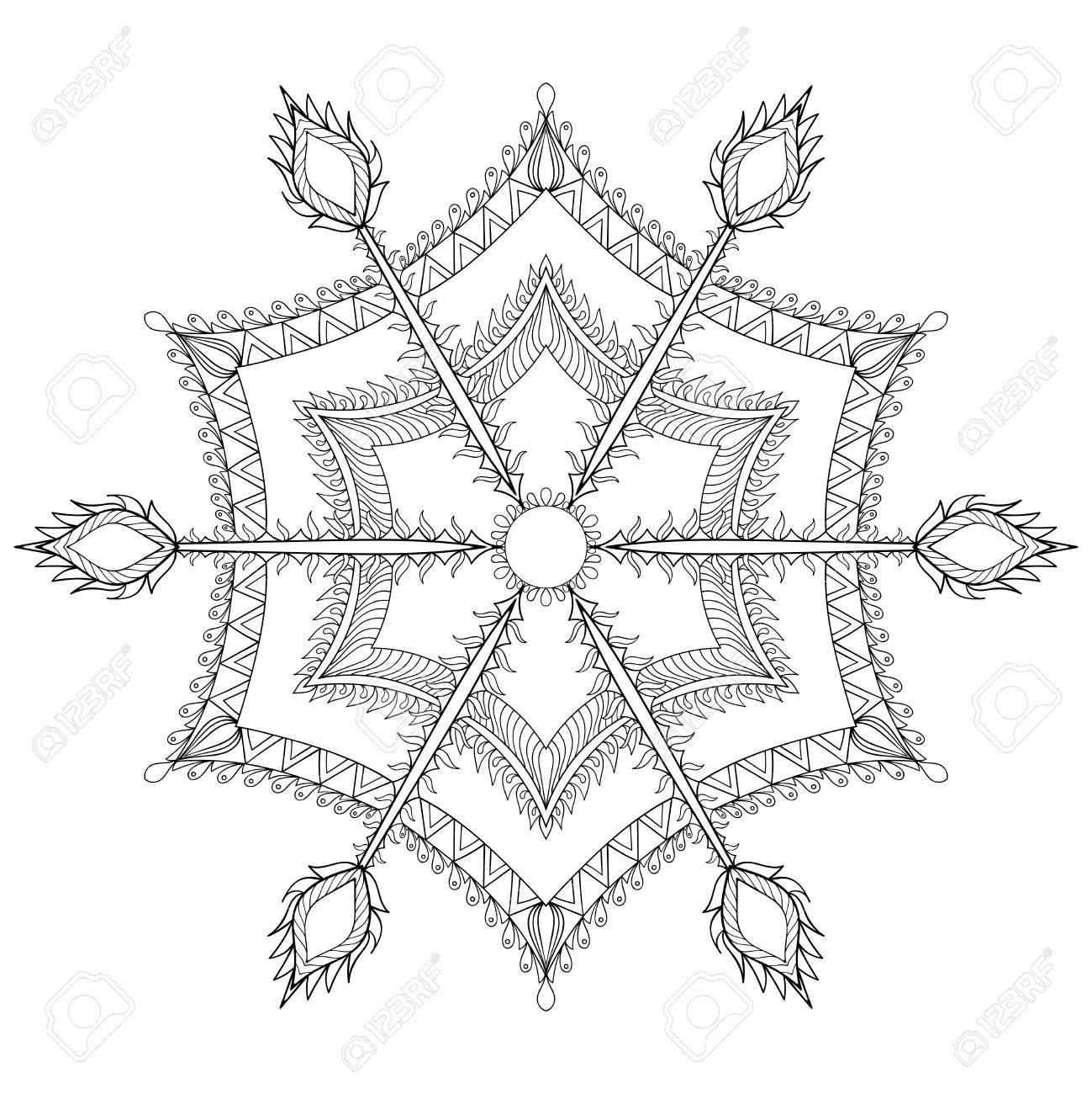 Stilisierten Winter Schneeflocke Für Weihnachten, Neujahr ...