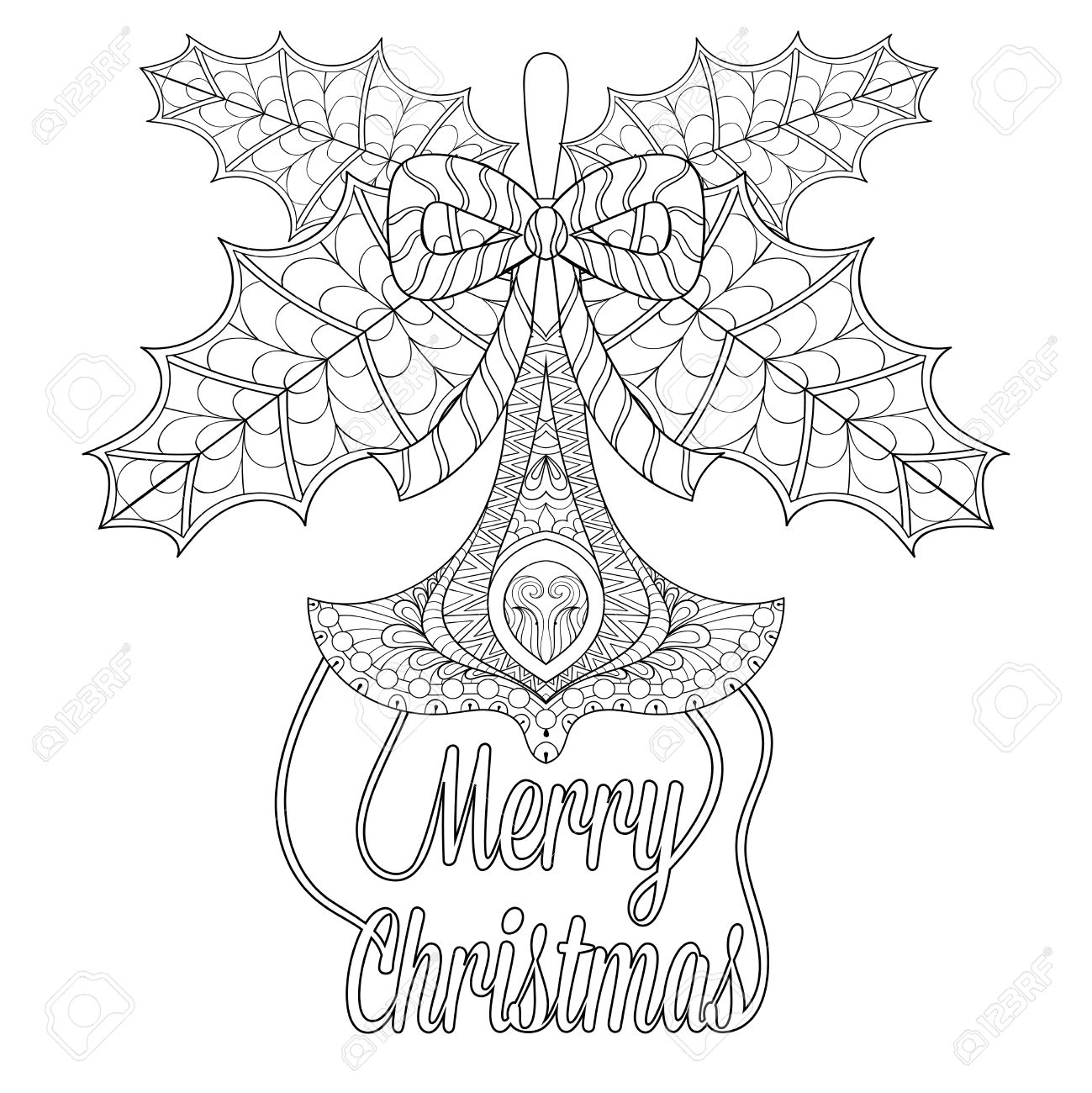 Juguete Del Arbol De Navidad Con Hojas De Muerdago Desea En El
