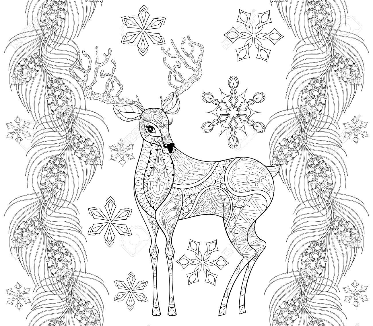 Renos Para Pintar. Simple Para La Navidad Navidadjpe With Renos Para ...