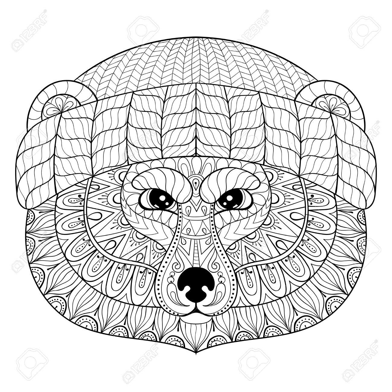 Panda Gesicht Malvorlage Coloring And Malvorlagan