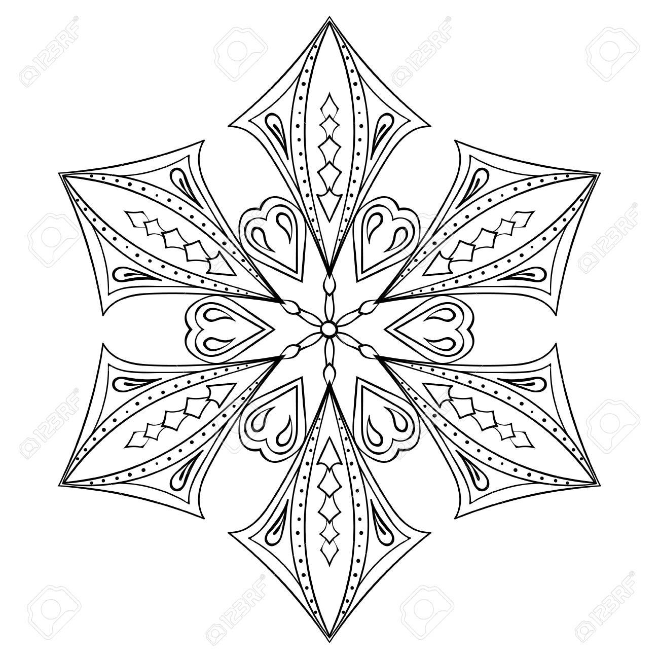 Bonito Copos De Nieve Para Colorear Para Adultos Adorno - Ideas Para ...