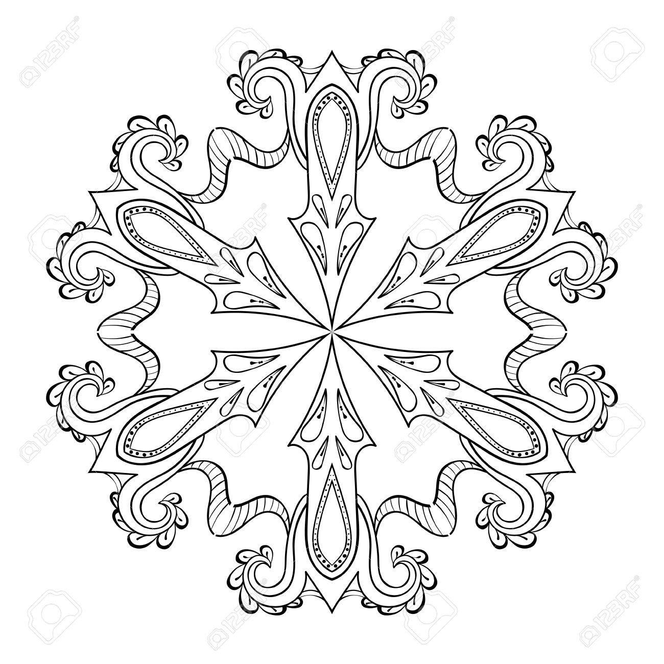 Atemberaubend Schneeflocke Mandala Malvorlagen Ideen - Beispiel ...
