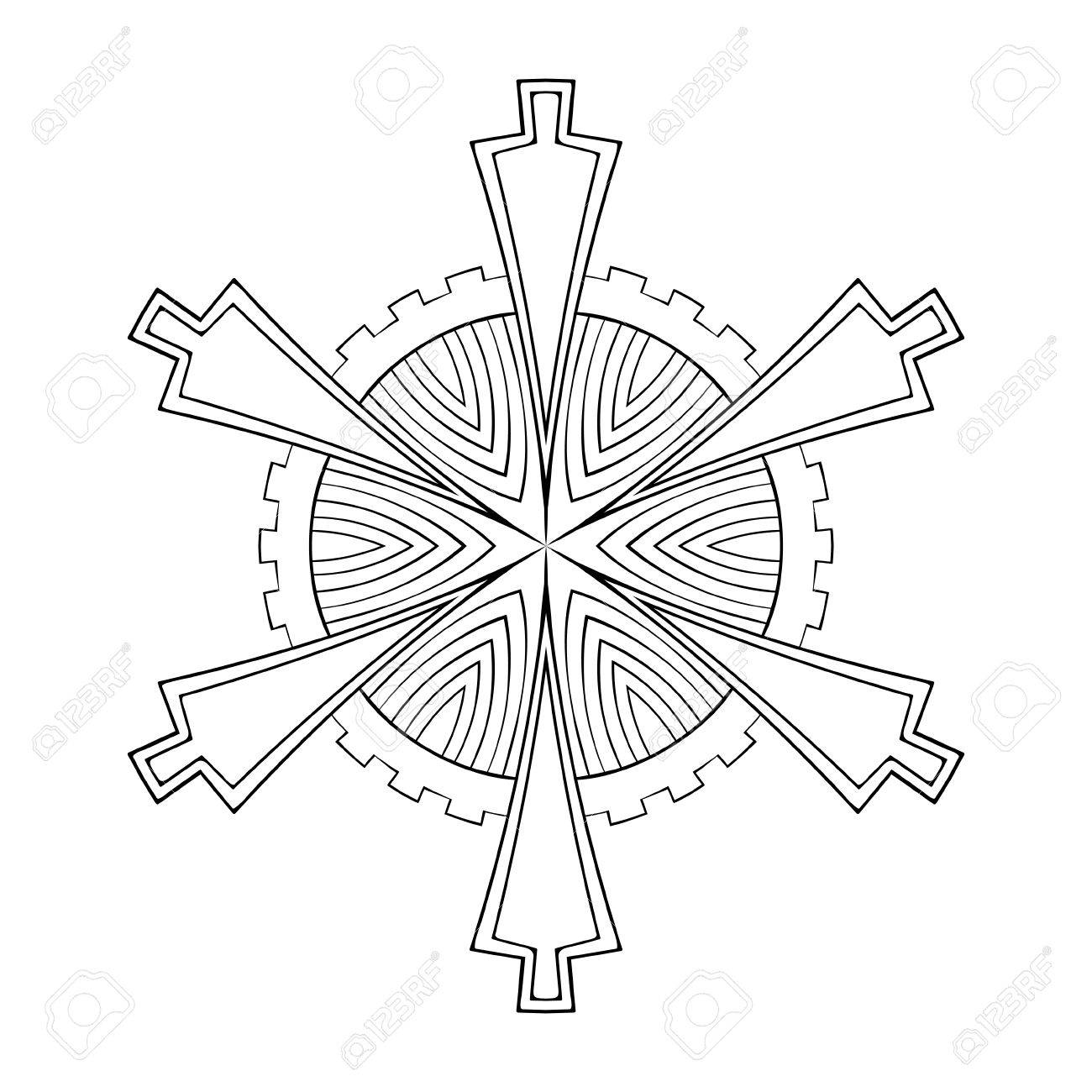 Papel De Vector De Copos De Nieve Recorte En Estilo Geométrico ...