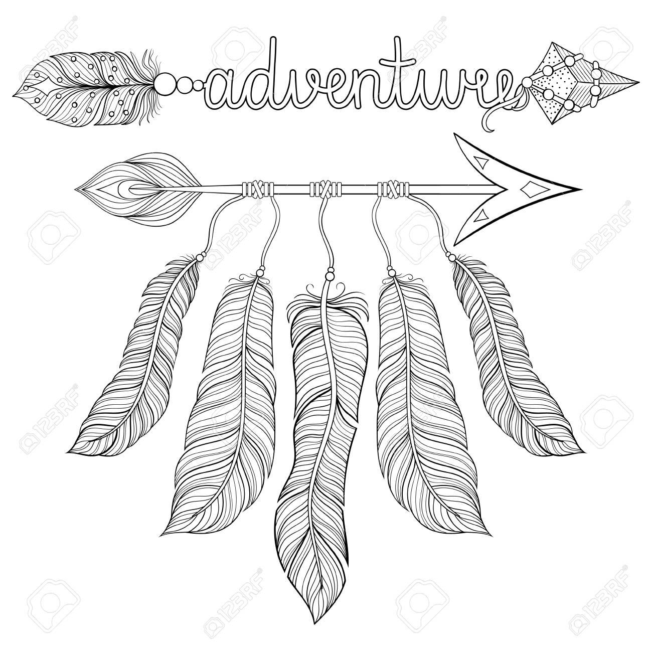 Boho Chic étnico Sueño Flecha Con Plumas Atrapasueños Letras De