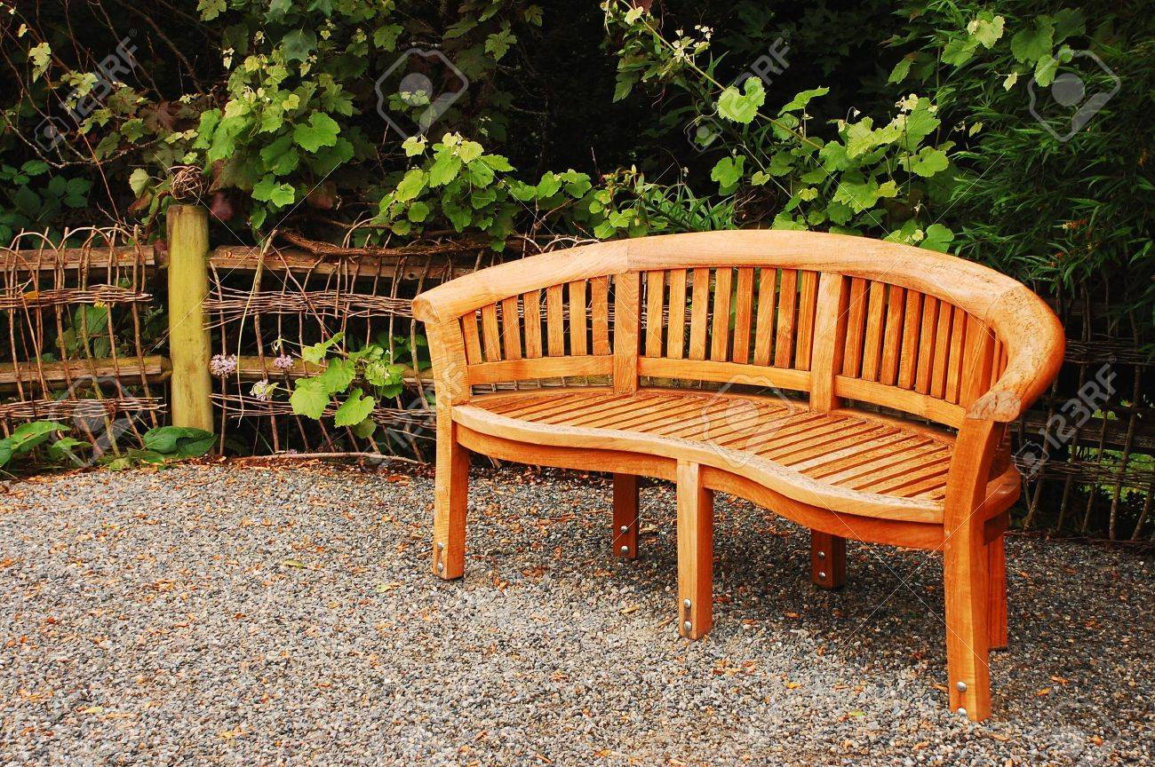 wooden garden bench stock photo 7302525. beautiful ideas. Home Design Ideas
