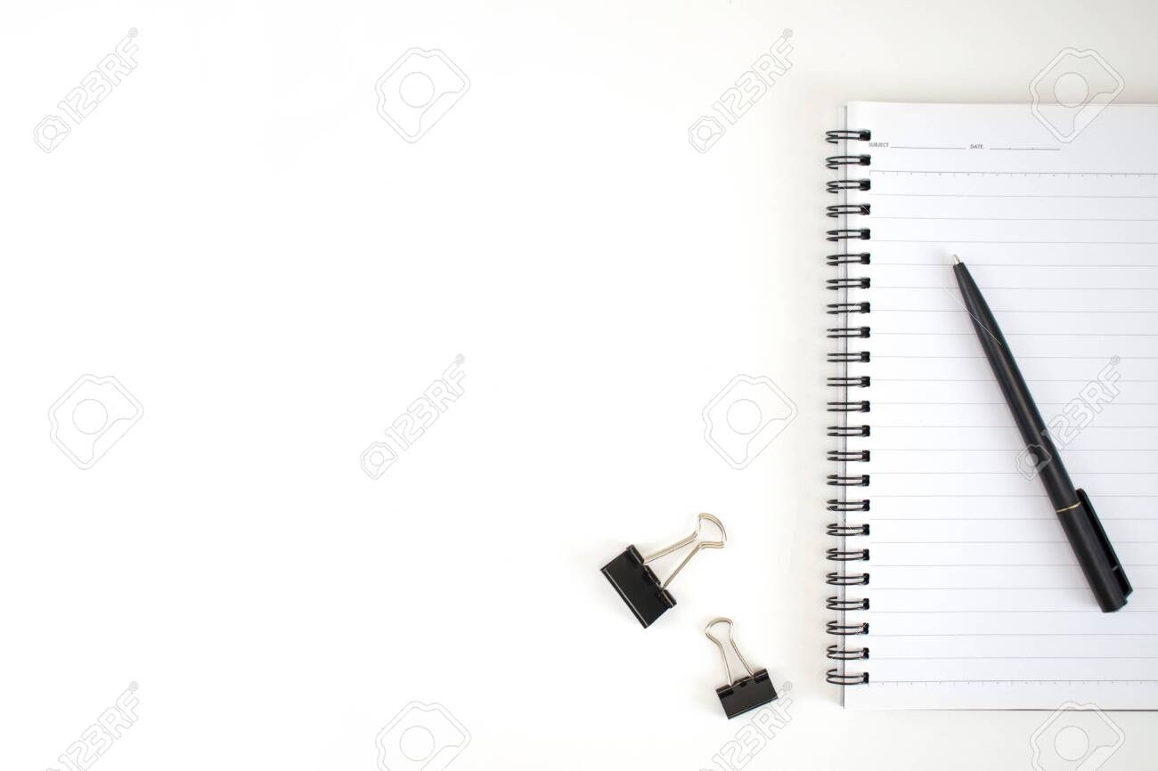 Business Office Accessories On A White Desk In A Minimalist Style Stock Photo Picture And Royalty Free Image Image 128626827