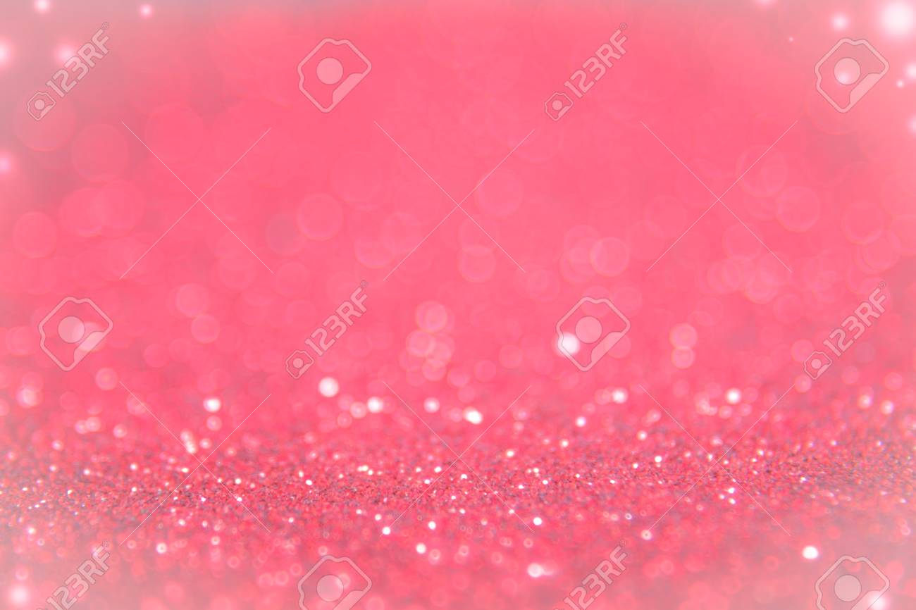 Red And Pink Glitter Abstract Background With Bokeh Defocused Lights Winter Christmas And Valentine Background Wallpaper Concept