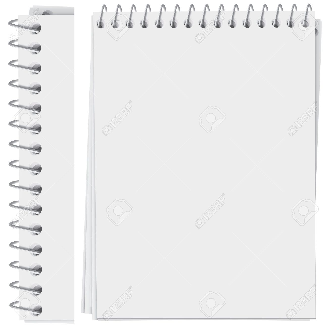high detailed spiral bound notepad page (vector, CMYK) Stock Vector - 5050571