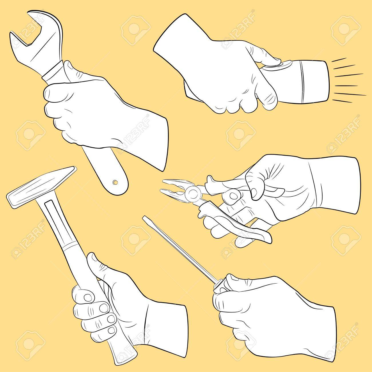 Hand tools in use - 9150158