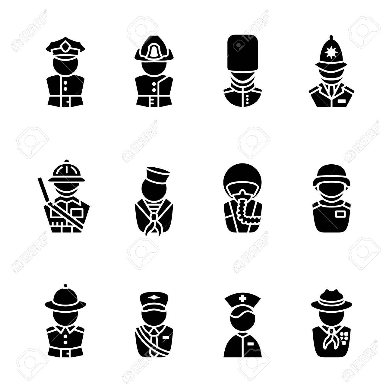 computer icon set Stock Vector - 16268673