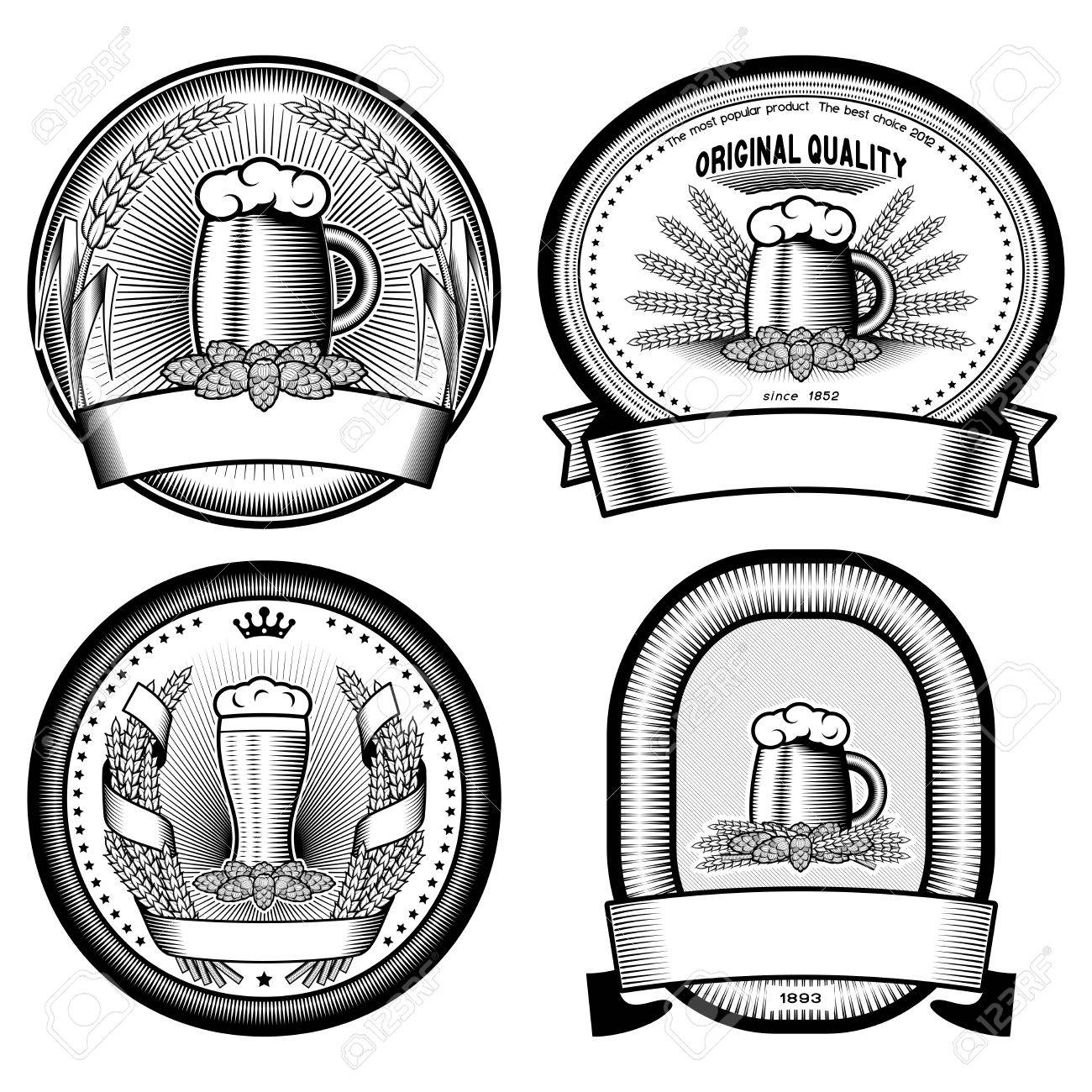four vector  labels Stock Vector - 21492994