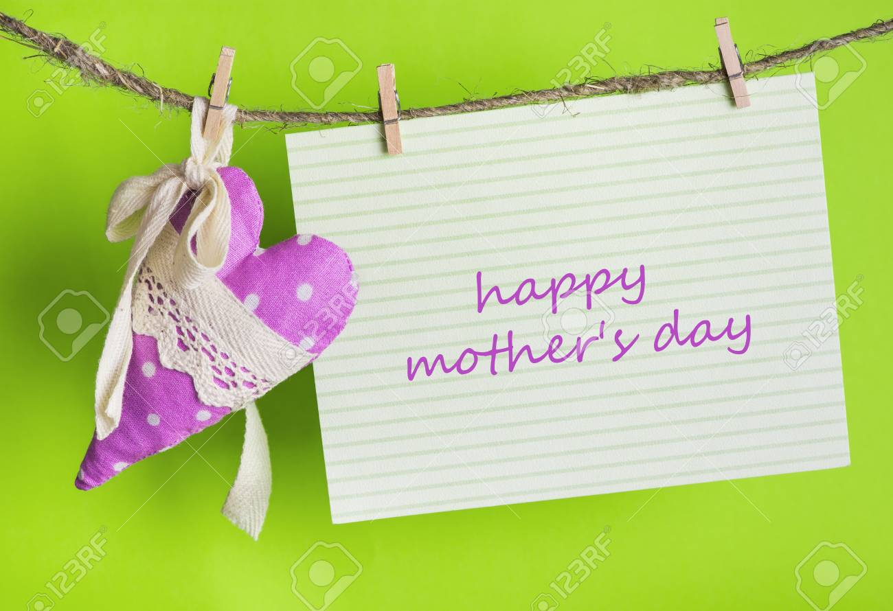 Mothers Day Message Card With The Inscription Happy Mothers Stock