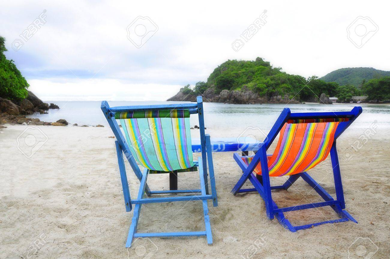 Beach chair back - Thai Beach Chair Sit Back And Relax Stock Photo 8589074