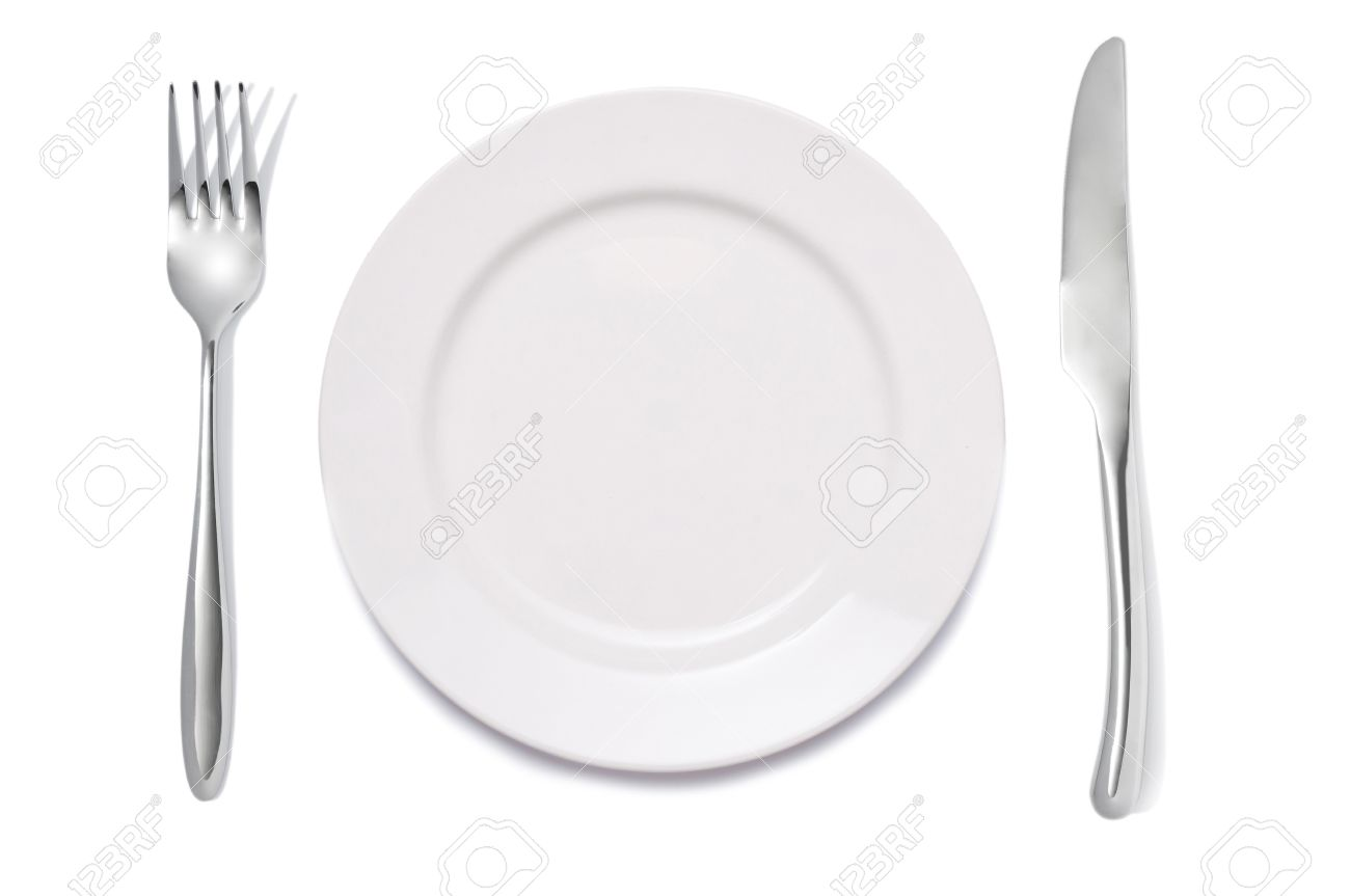 Dinner Setting closeup of a place setting with dinner-plate stock photo, picture