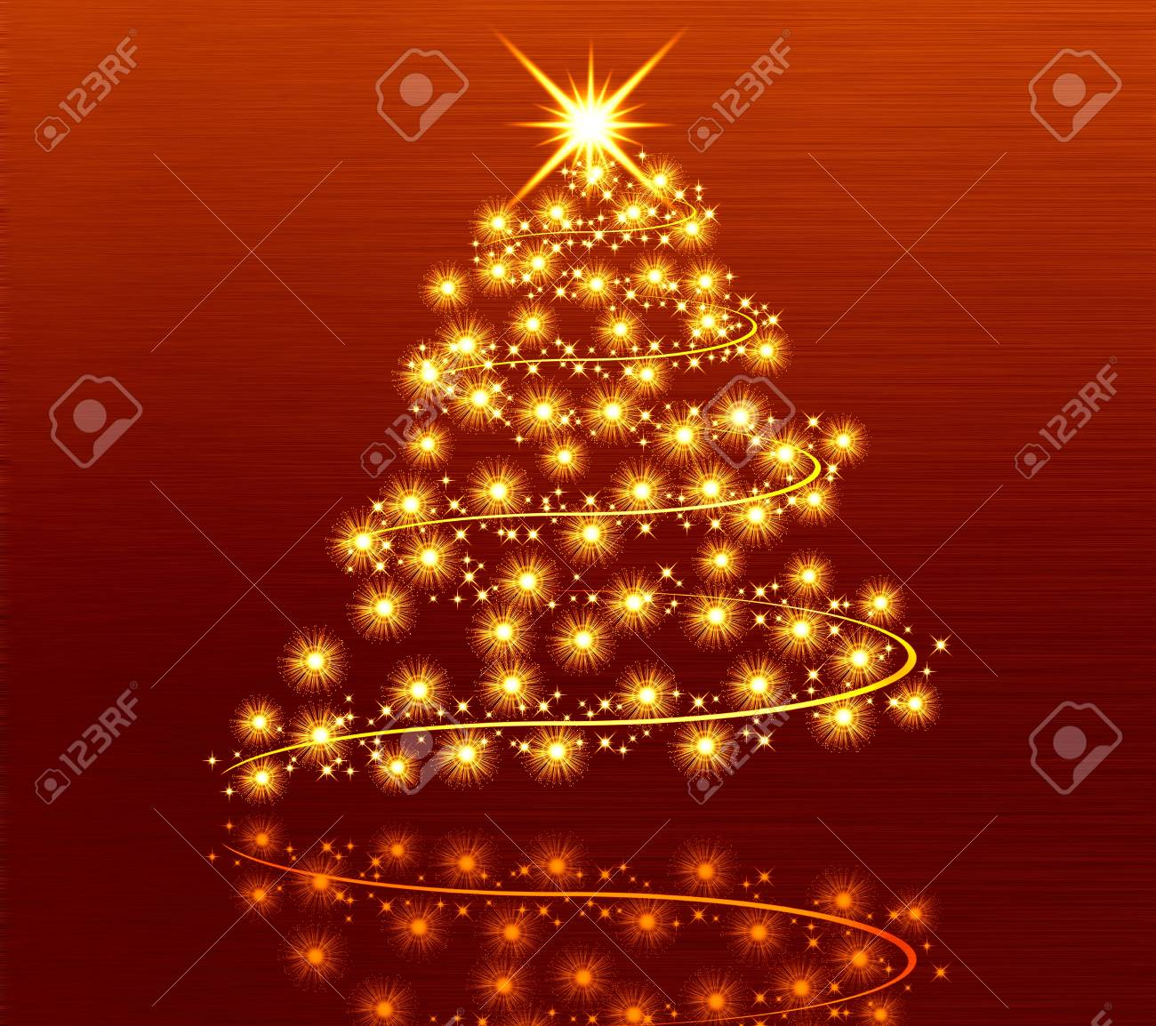 tree golden christmas background Stock Photo - 15321342