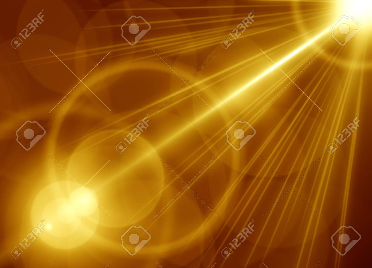 Golden abstract background Stock Photo - 16484896