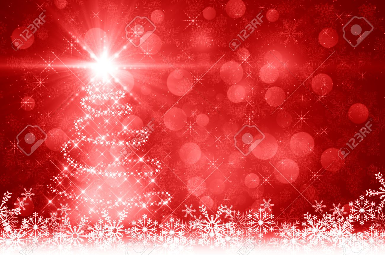 Red Christmas Tree Background Stock Photo, Picture And Royalty ...