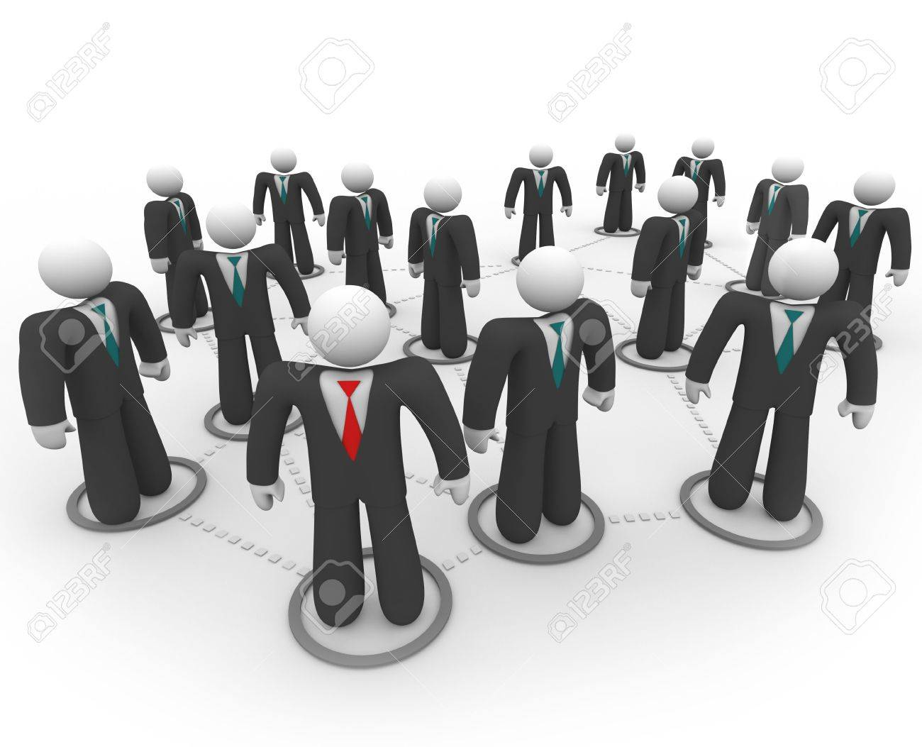 A social network of business people in suits and ties Stock Photo - 4650324