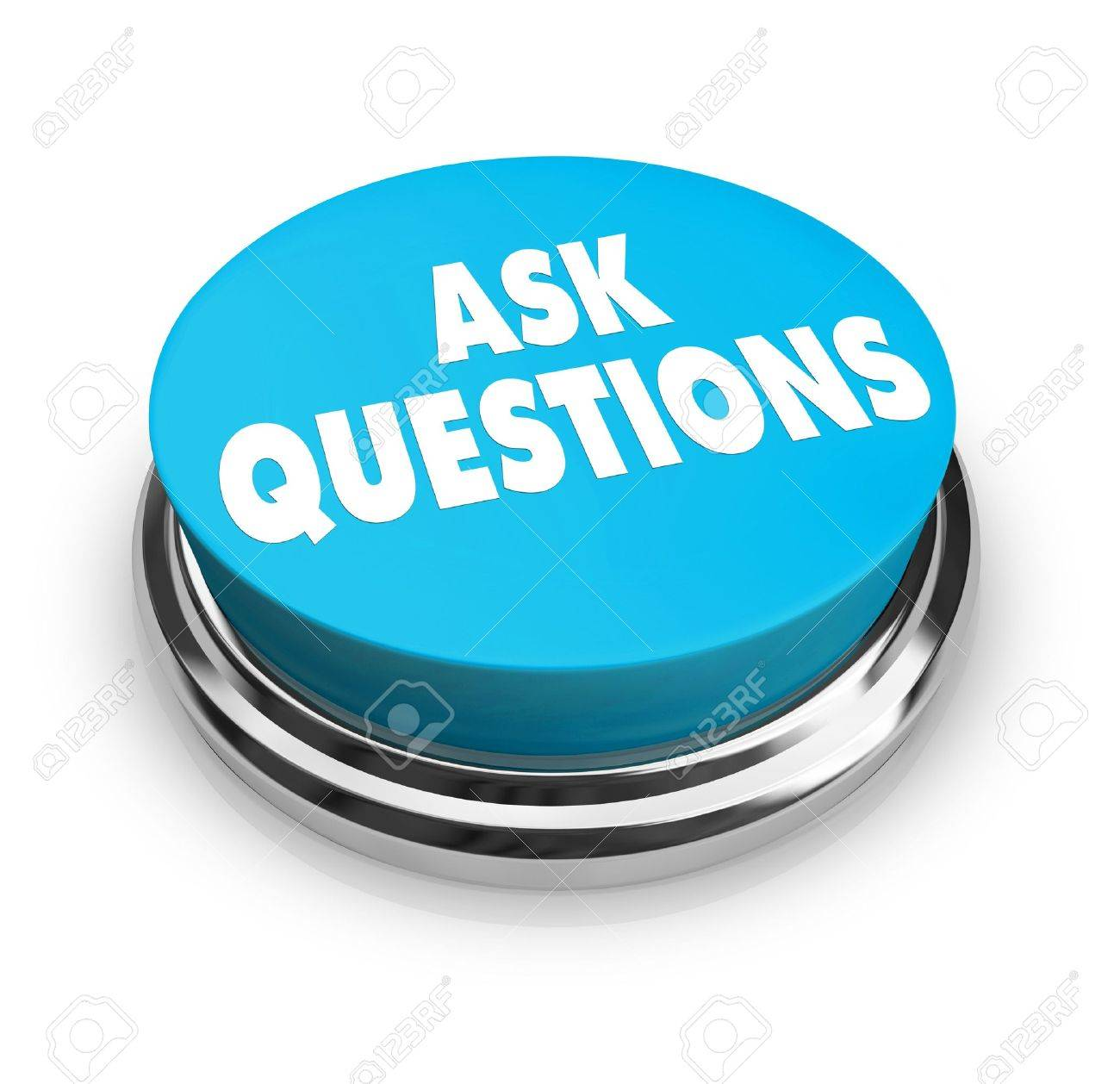 A Blue Button With The Words Ask Questions On It Stock Photo  4771916