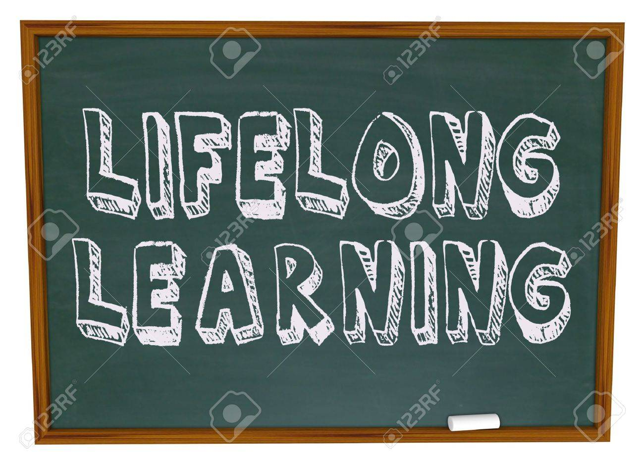 The words Lifelong Learning on a chalkboard Stock Photo - 4822377
