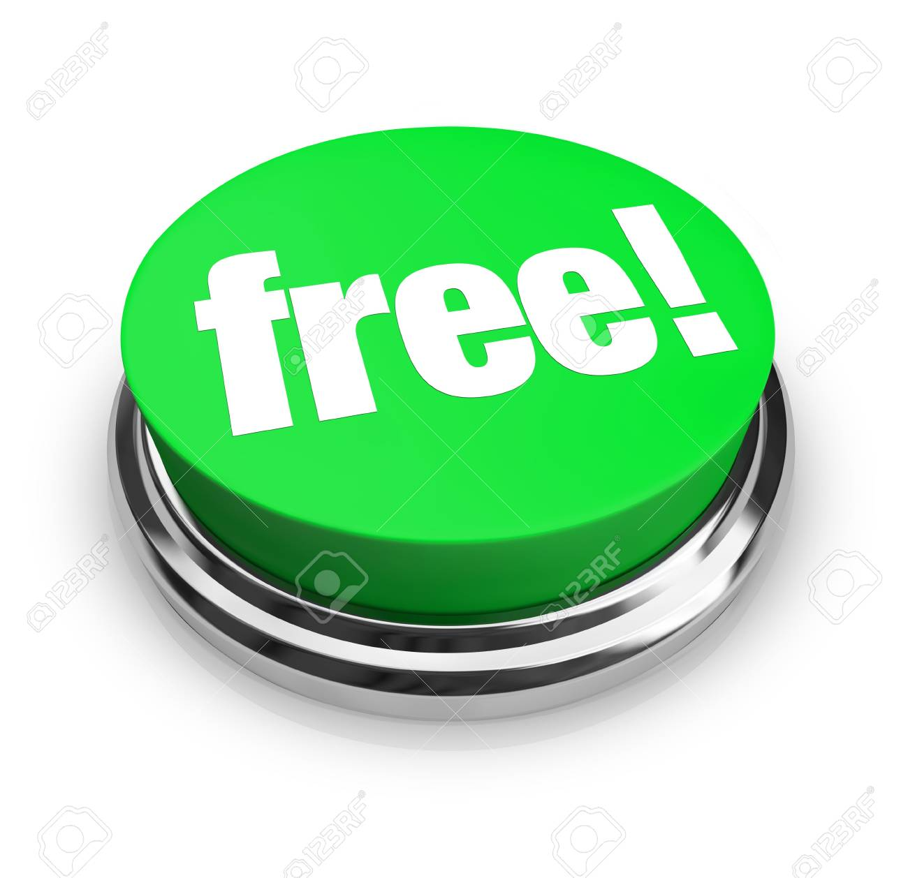 A green button with the word Free on it Stock Photo - 5041492