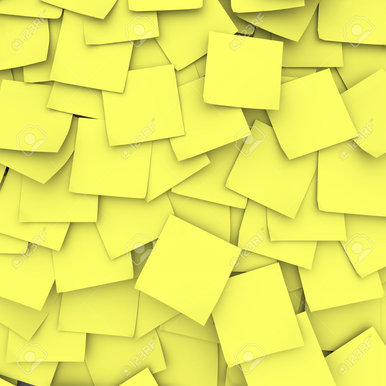 Many yellow sticky notes form a background Stock Photo - 5461730