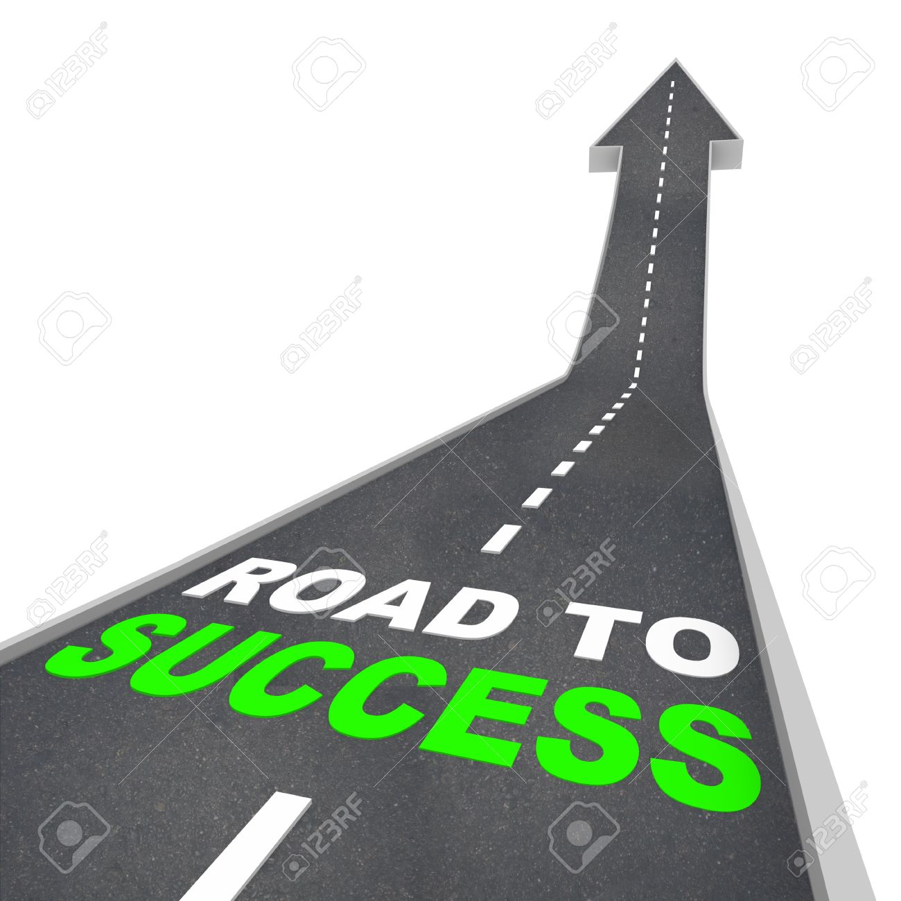 The Road to Success - Words on Arrow Going Up Stock Photo - 5599578