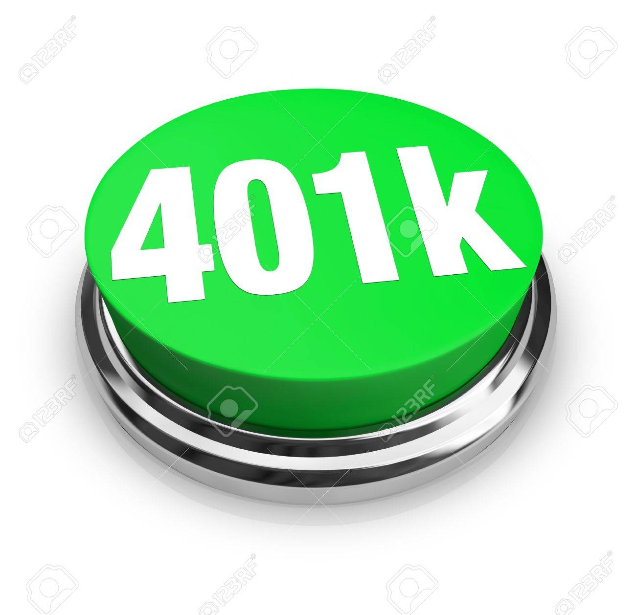 A green button with the word 401k on it Stock Photo - 6696195