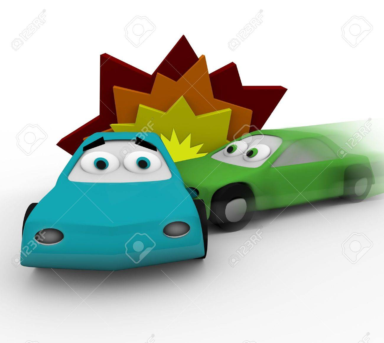 Two cars crash in a vehicle accident Stock Photo - 6892736