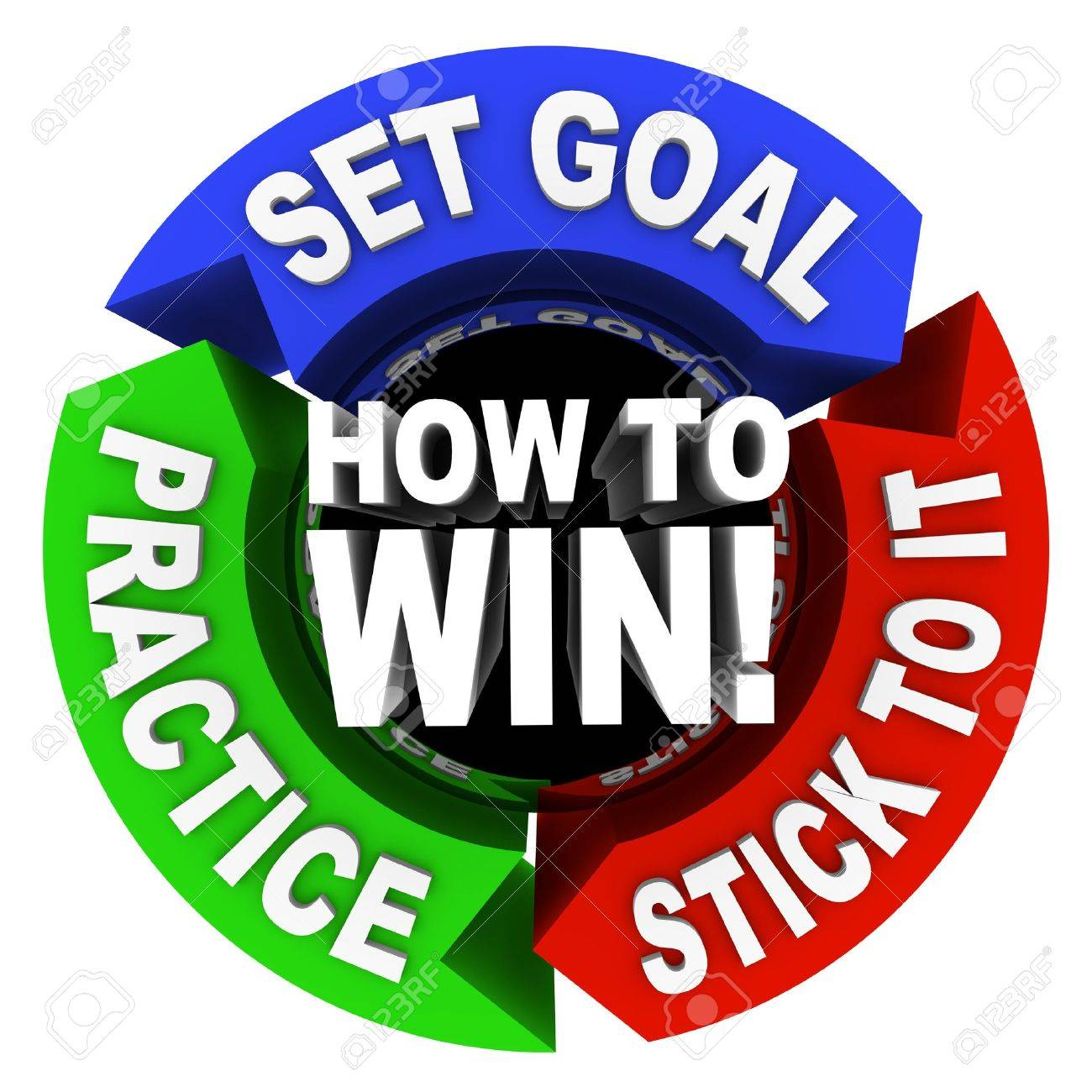 How to Win - set goals, practice and stick to it Stock Photo - 7051352
