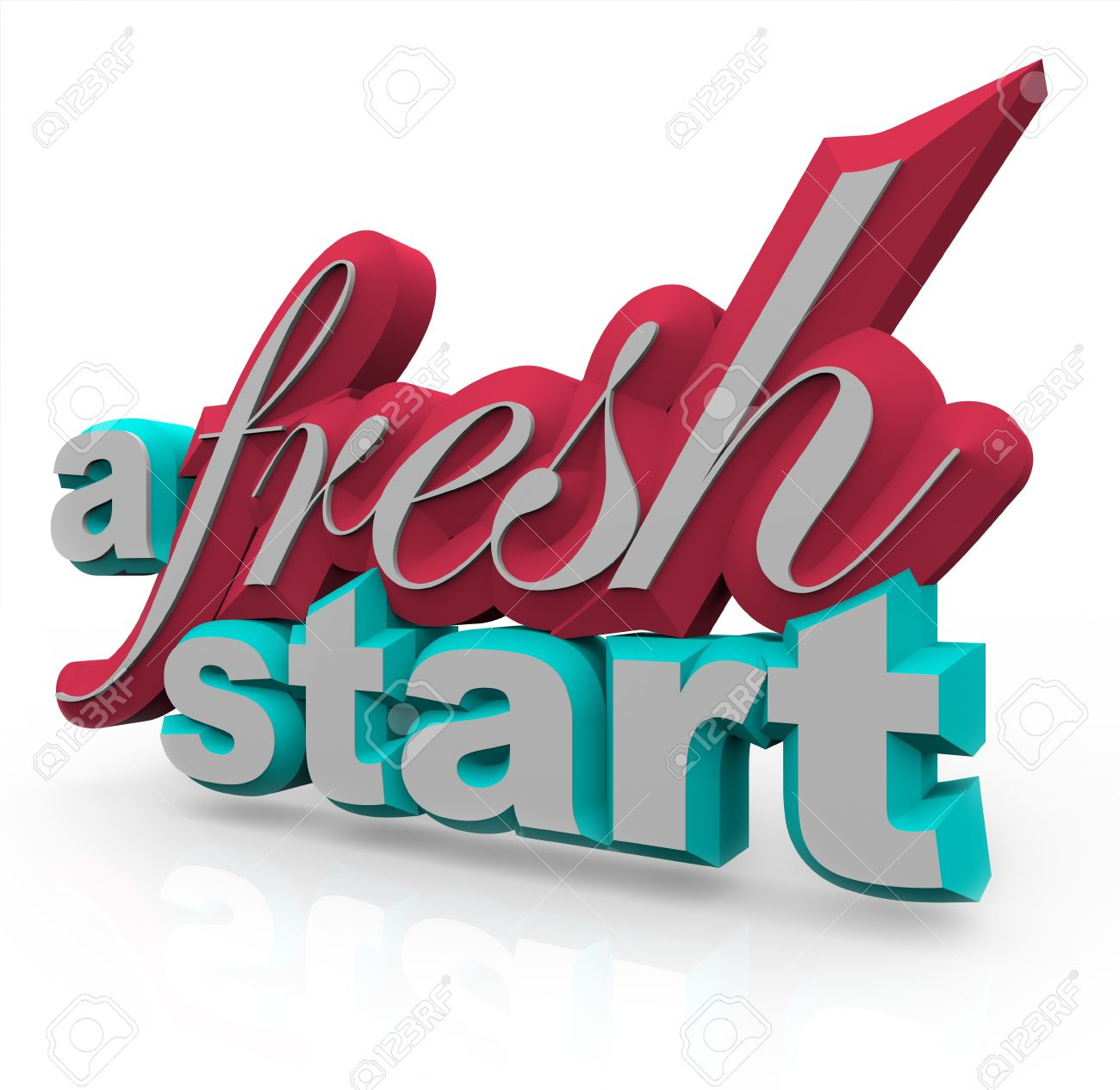 The words A Fresh Start in 3D on a white background Stock Photo - 8466565