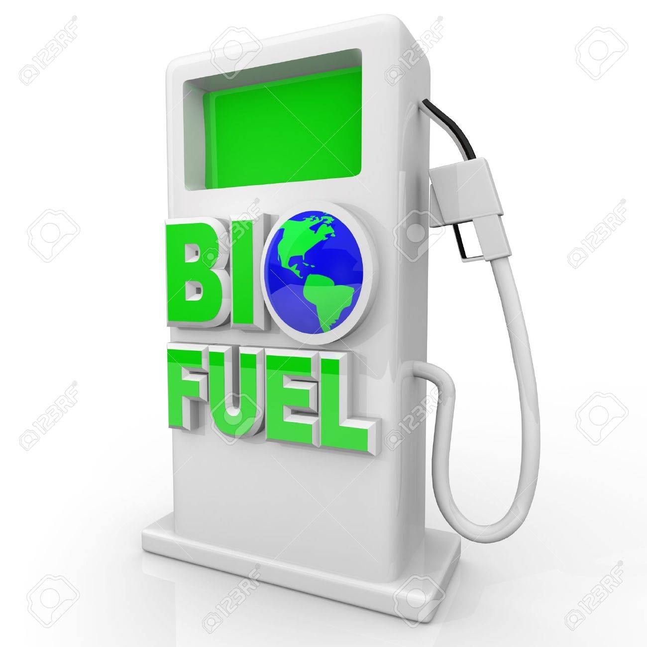A green, environmentally friendly and efficient gas pump with the words Bio Fuel Stock Photo - 8711472
