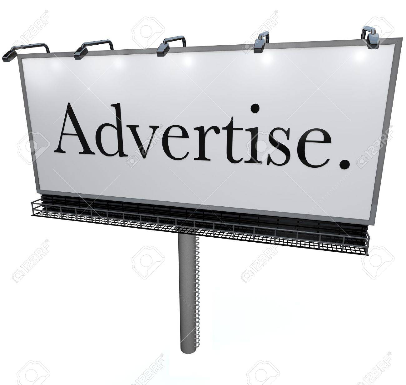 An outdoor billboard with the word Advertise on it, representing the power of advertising to communicate your business and attract more customers Stock Photo - 10015027