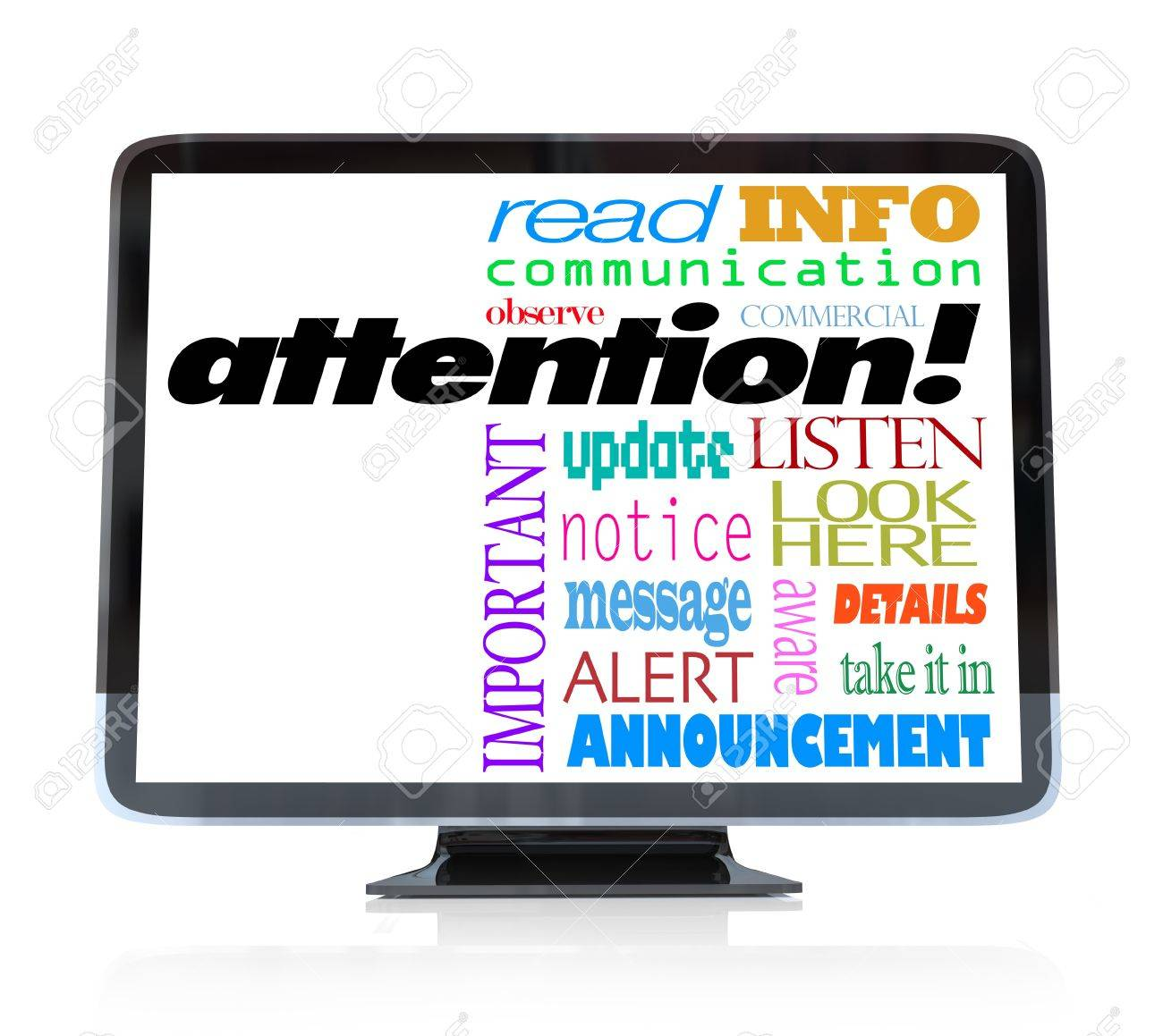 a high definition television the word attention and many a high definition television the word attention and many other words related to communication and