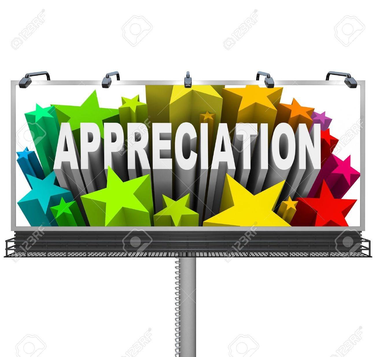 an outdoor billboard communications appreciation and recognition